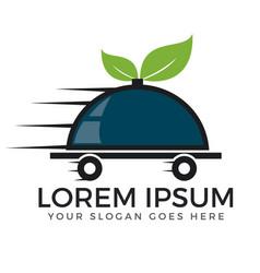 Food delivery and online food logo design vector