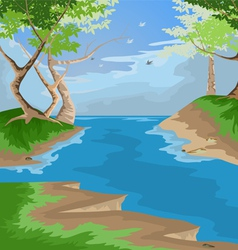 forest scenic vector image
