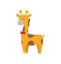 Giraffe cartoon animal childish vector