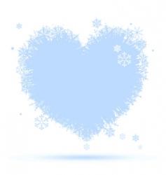 heart shape snowflakes vector image vector image