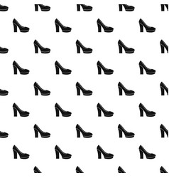High heel shoes pattern vector