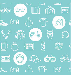 hipster pattern background vector image vector image