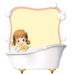 Little girl taking a bath vector image vector image