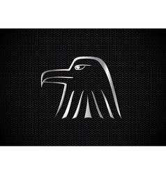 Metallic eagle symbol vector