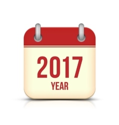 New Year 2017 Calendar Icon on White vector image