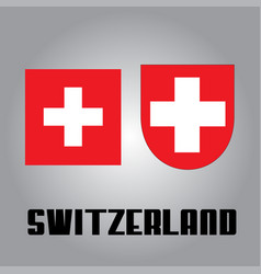 Official government elements of switzerland vector