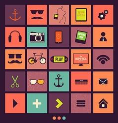 Retro icons set vector
