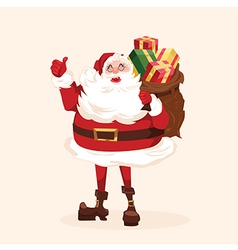 Santa character Cartoon vector image vector image