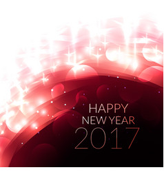 Shiny glowing happy new year 2017 greeting card vector
