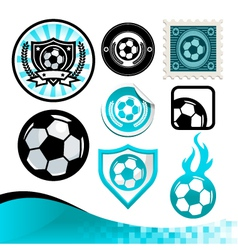 Soccer ball design kit vector