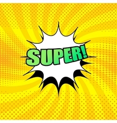 Super wording comic cartoon vector