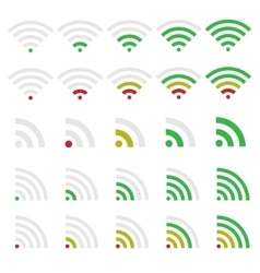 Wi-fi icons vector image