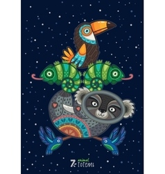 wild totem animal Koala vector image