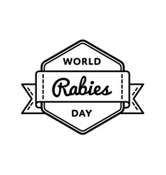 world rabies day greeting emblem vector image vector image