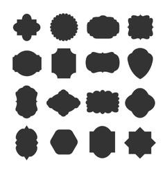 Vintage blank frames badges for emblems and labels vector