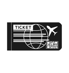 Isolated airplane ticket design vector
