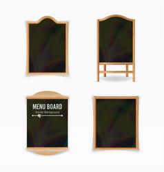 menu black board empty cafe menu set vector image