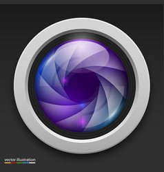 Photography camera icon background vector