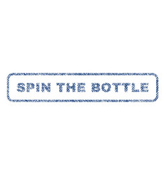 Spin the bottle textile stamp vector