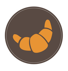Isolated croissant icon vector