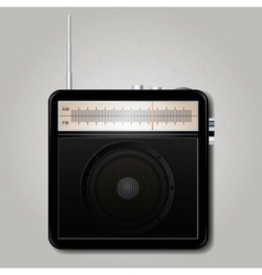 Square retro radio vector