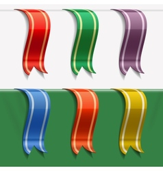 Collection of bookmarks vector