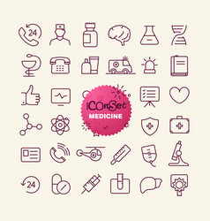 Different trendy outline icons collection web and vector