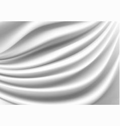 white fabric satin wave luxury vector image
