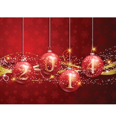 New year baubles background 1111 vector