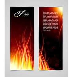 Fire glow background vector
