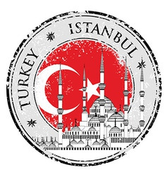 Grunge rubber stamp with words istanbul turkey vector
