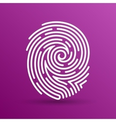 Fingerprint icon finger print id theft vector