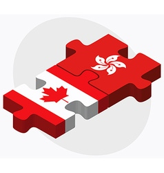 Canada and hong kong sar china vector