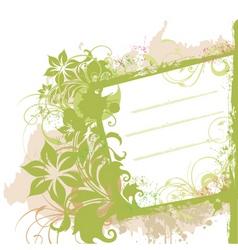 floral grunge side banner vector image