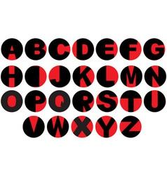 Alphabet - vinyl record letters vector