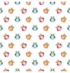 Owls cute pattern vector