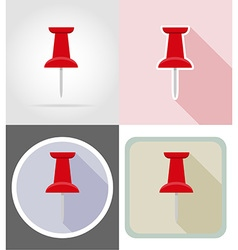 stationery flat icons 05 vector image