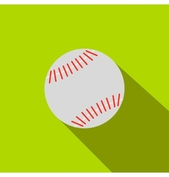 Baseball flat icon vector image