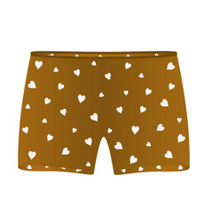 Boxer shorts with white hearts vector