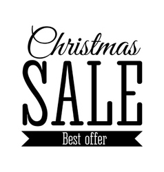 Christmas Sale inscription vector image vector image