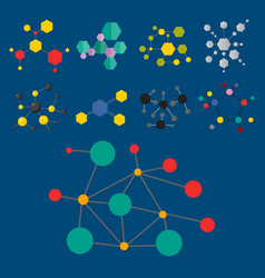 colorful molecular structures in the form of vector image vector image