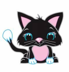 cute black cat vector image