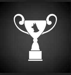 dog prize cup icon vector image