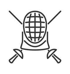 Fencing line icon vector