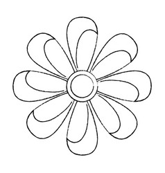 Flower topview icon image vector