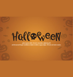 Halloween style background design collection vector