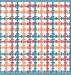 Hand drawn seamless pattern with crossing painted vector