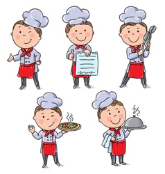 Kids chefs vector
