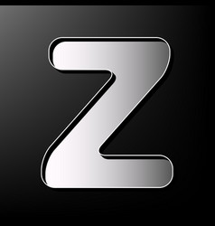 Letter z sign design template element vector