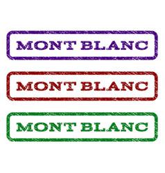 Mont blanc watermark stamp vector
